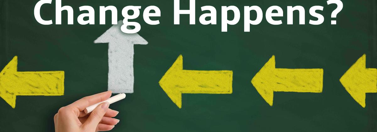change happens on a chalkboard