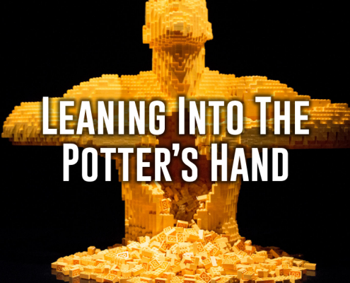 leaning into the potter's hand